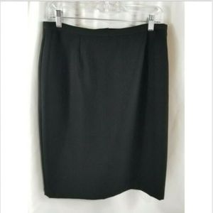 LIZ CLAIBORNE VILLAGER Black Pencil Skirt 14P